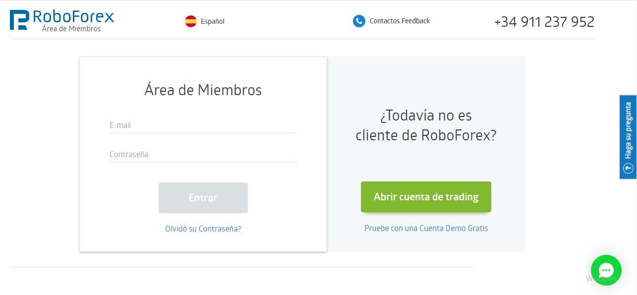 RoboForex:Registro y Verificar Cuenta