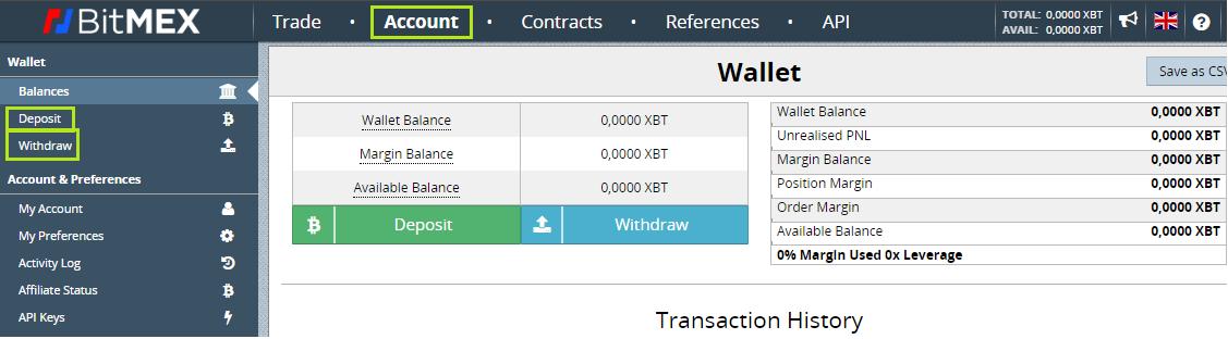 """BitMex: """"Cómo Depositar y Retirar"""""""