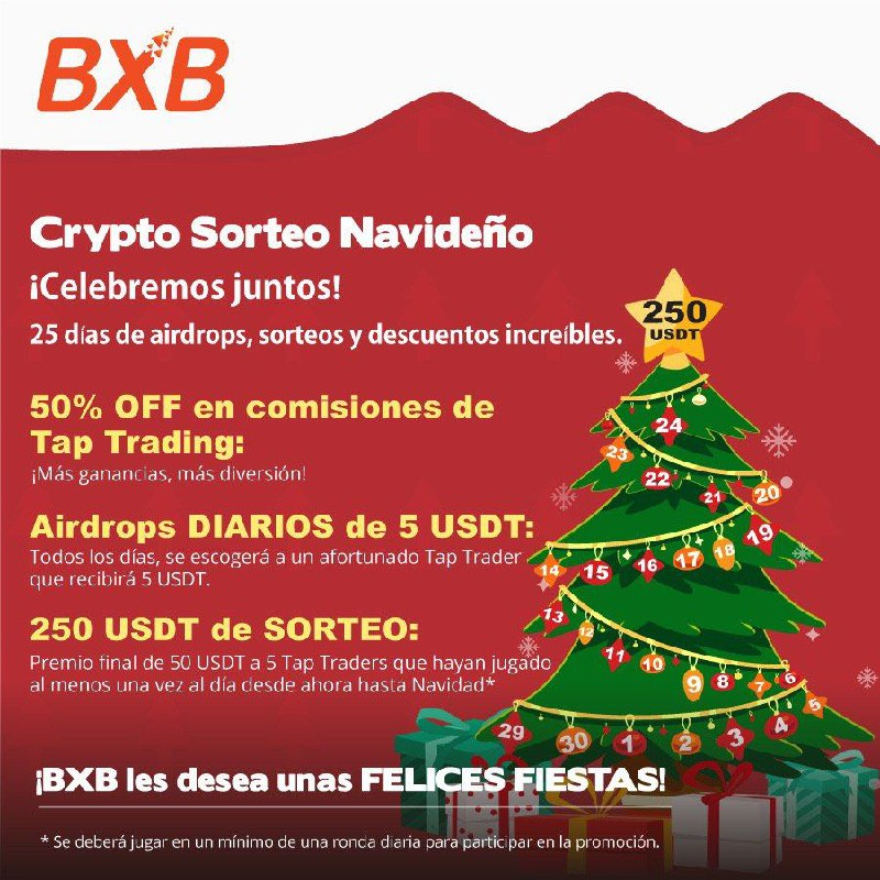 "BXB Exchange ""Crypto Sorteo Navideño"""