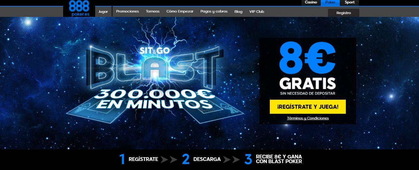 888 Poker bono de 8€ o 8$ GRATIS y más Promociones