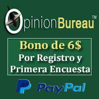 Opinion Bureau Dinero para PayPal [BONO 6$]