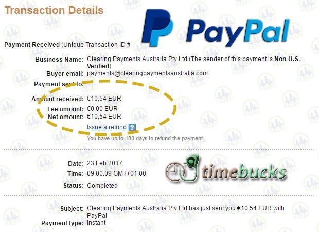 Timebucks comprobante de pago