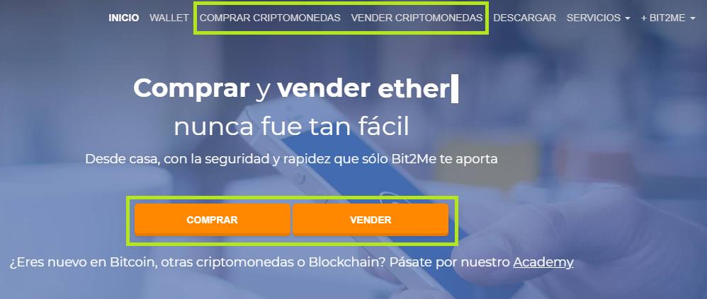 Bit2me comprar/vender criptomonedas