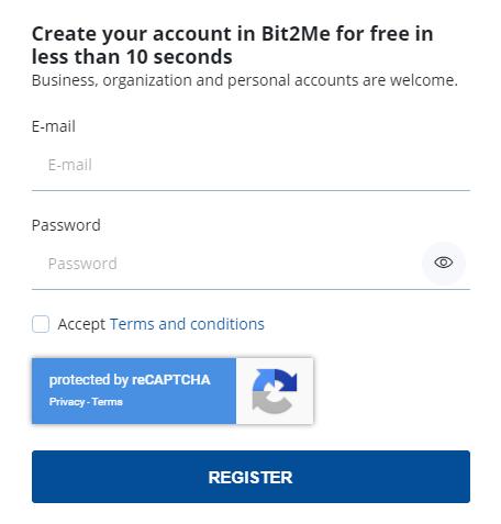 Bit2me registro