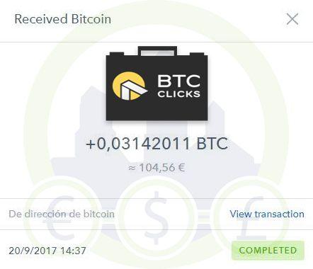 BTCClicks paga