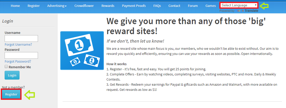 Keep Rewarding registro