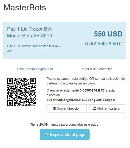 Masterbots licencia 4