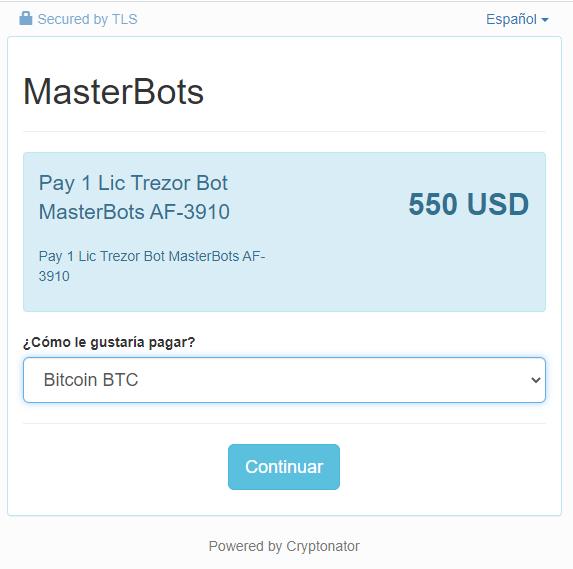 Masterbots licencia 3