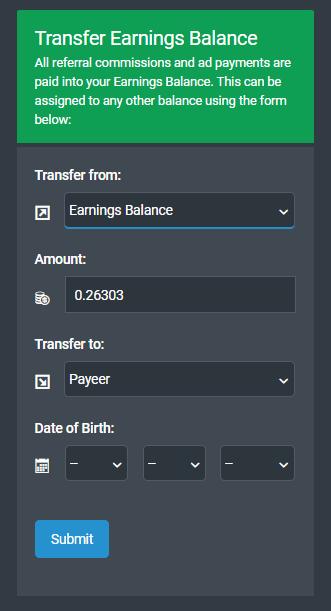 PTC SHARE:Cómo depositar y retirar dinero