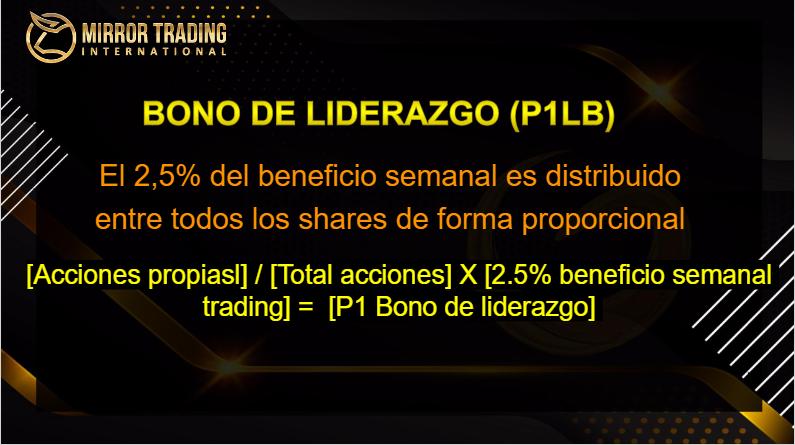 Mirror Trading bono de liderazgo pool 1 formula