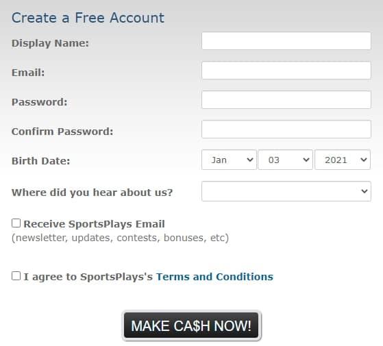 Como Crear una Cuenta en Sportsplays
