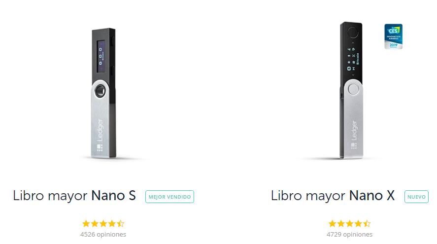 Ledger nano s vs Ledger nano x